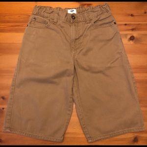 Old Navy boys khaki denim shorts
